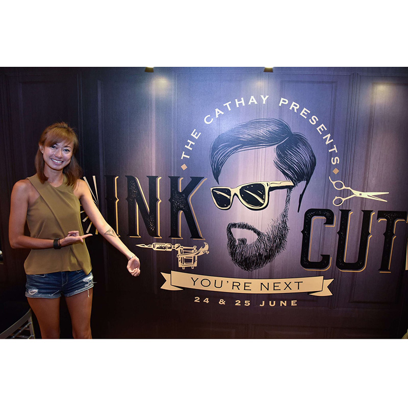 Cathay Ink & Cut Event Backdrop